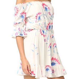 Athena Procopiou short floral silk dress